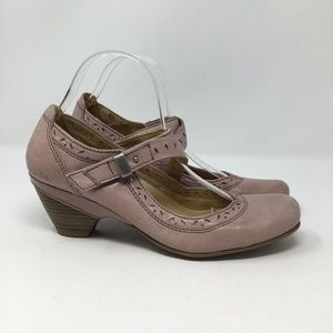 TAOS Womens Lavender Leather LINDO Mary Jane Shoes